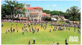 U.S. Open time lapse at Congressional Country Club practice green for USA TODAY